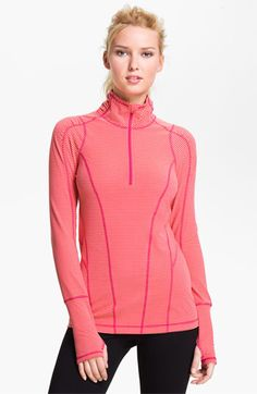 Zella Good Sport Stripe Half Zip Top available at #Nordstrom