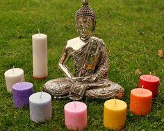 7 velas creadas para aportar el equilibrio y armonia a nuestros chakras a través de la luz
