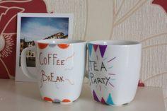 Tazze e tazzine per te e da caffè scritte a mano. di CraftyMug