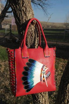 Hand Painted Purse By Rez Hoofz (ready t o ship ) as pictured Its not only a awesome Purse it a one of a king piece of art No two are ever exotically Gypsy Cowgirl, Cowgirl Bling, Cowgirl Chic, Leather Purses, Leather Bag, Leather Totes, Handbag Accessories, Fashion Accessories, Western Purses