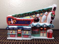 Coca-Cola Brand Town Square Collection 10 Pin Diner Bowling Alley Coke Christmas