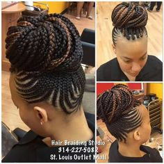 Image - goddess braids - - Braid Recipes - # big beyonce Braids # goddess Braids with color # goddess Braids with color # big beyonce Braids Black Girl Braids, Braids For Black Hair, Girls Braids, Braided Mohawk Black Hair, Mohawk Braid, African Braids Hairstyles, Braided Hairstyles, Cool Hairstyles, Black Hairstyles