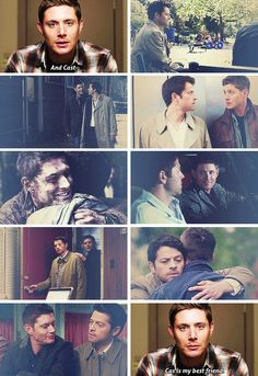 And Casti- ... Cas is my best friend. #spn #destiel
