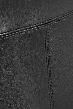 Alaïa - Fluted Leather Mini Skirt - Black - FR42