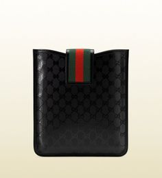 GUCCI 500 series iPad Sleeve with Red & Green Stripe New with Box # Gucci Sale !!