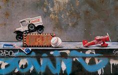 Cesar Galicia - Sopas con chicle, 1993 Oleo sobre tabla, 75 x 60 cm