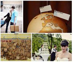 Travel themed wedding...