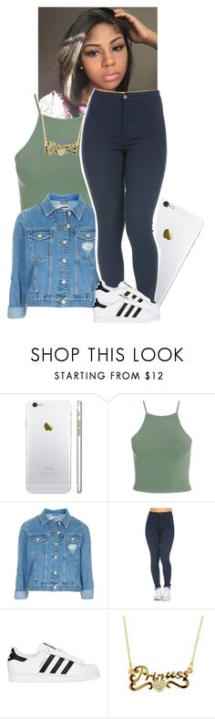 """"""""""" by xtiairax ❤ liked on Polyvore featuring Topshop and adidas Originals"""