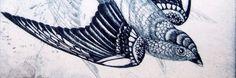 over done sparrow tattoo: REMADE! Sparrow Tattoo, Art Programs, Future Tattoos, Bird Prints, Printmaking, Fine Art, Create, Drawings, Artist
