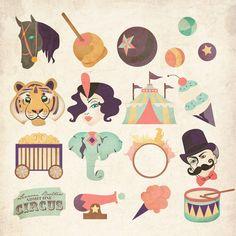 Circus Symbol Set on Behance