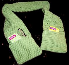 Free Download. Ravelry: X Stitch Scarf with Pockets pattern by Danielle Bonacquisti by pathkelly