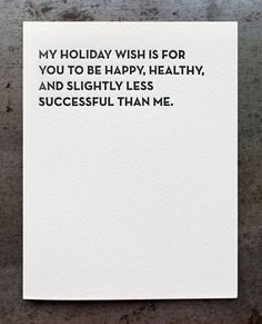 holiday wish holiday box of 6 - hilarious.