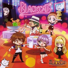 Tags: Black Cat (Series), Rinslet Walker, Eve (Black Cat), Train Heartnet, Scan, Sven Vollfied, Creed Diskenth, Official Art