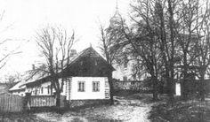 Usedlost č. 18, bývalá Krejčíkova chalupa a kostel.