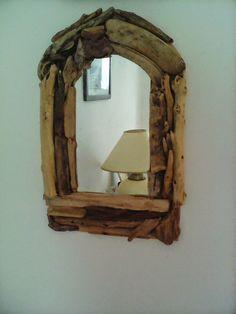 Miroir bois flotté (cintrée)