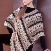Crochet Striped Poncho - via @Craftsy