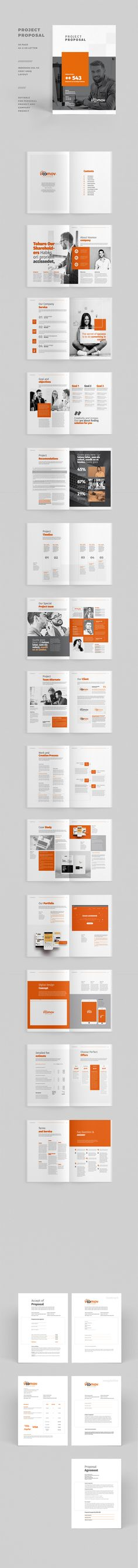 Creative Annual Brochure Template InDesign INDD Brochure - proposal layouts
