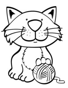 About Cat Coloring Page Free Printable Coloring Pages Animal
