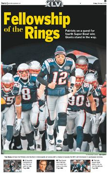 Great section on the NE Patriots as they head to SuperBowl