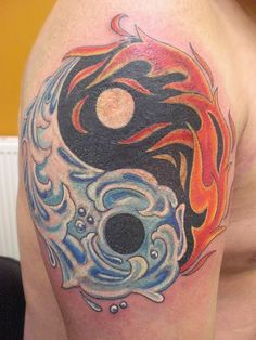 Tattoo - Yin Yang Fire And Ice Photo by marbucketspace | Photobucket