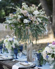 Country Blue Wedding Inspiration - Rustic Wedding Chic