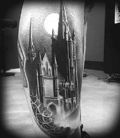 The Evil Evening in Castle. Frightened? No? Dare to have this tattoo on your arm then!