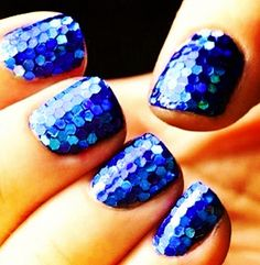 Mermaid scale nails. These would have been perfect with my homecoming dress!!