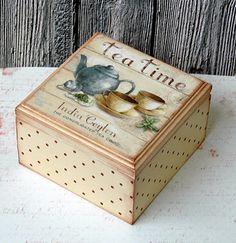 Tea box. Decoupage                                                                                                                                                                                 More