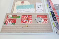 """Great way to make a """"layered"""" card using Christmas related paper punches with a number 1 - 25 for a December Daily."""