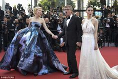 All together: The trio are hoping the film will scoop the coveted Palme d'Or prize...