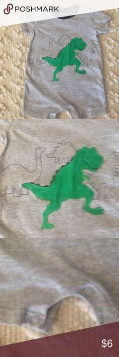 Carters 3-6 month Dinosaur Outfit Boys Smoke free home- snap crotch for easy changing Carter's One Pieces