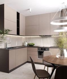 30 modern kitchen interior ideas to inspire you Kitchen Room Design, Kitchen Sets, Modern Kitchen Design, Kitchen Layout, Home Decor Kitchen, Interior Design Kitchen, Home Kitchens, Fancy Kitchens, Kitchen Designs