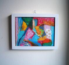 originale kleine abstrakte Acrylmalerei mit von SuseundMuse auf Etsy