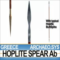 Hoplite Spear Ab is the Hoplite Spear with ButtCap or ButtSpike and comes with photographic textures.