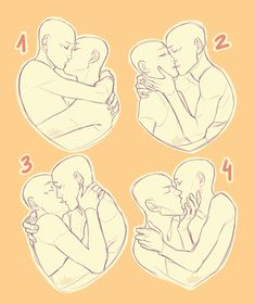 ideas for drawing poses kiss art reference Drawing Prompt, Drawing Practice, Drawing Ideas, Drawing Tips, Drawing Stuff, Drawing Base, Figure Drawing, Drawing Reference Poses, Art Reference