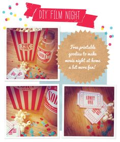 all the printables that you will need to make your DIY movie night..and all other printables. Search 'film' on the blog to get the correct post