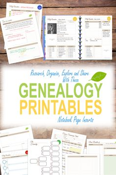 Create a stunning Genealogy Journal Notebook with these printable genealogy notebook page inserts. Just print, punch and fill in. Great for budding family genealogist.