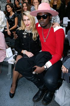 Pin for Later: It's a Party and a Protest in the Front Rows at PFW Theophilus London and Alice Dellal Theophilus London and Alice Dellal at the Chanel show.