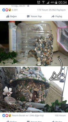 You would never guess it was a plastic bottle. Perfect for a fairy garden.