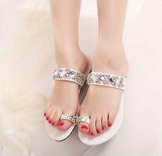 Casual flip flops rhineston summer fashion sandals