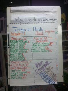 Phonics: Irregular Plurals Anchor Chart