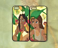 Tarzan and Jane Couple Case -iPhone 5, iphone 4s, iphone 4, ipod 5, Samsung GS3 case- silicone or Hard Plastic Case, Phone cover