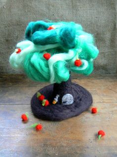Needle Felted Tree Waldorf Changes with by CloudBerryCrafts