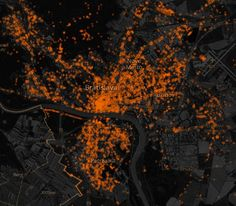 Map of OSM activity in Slovakia mapping all the points and roads that were mappped by Slovak OSM comunity....
