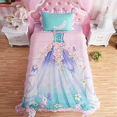 Princess Bedroom Set For Little Girl Pink Bedding Comfort…