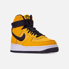 cfa3b46f3cc1 Three Quarter view of Men s Nike Air Force 1  07 High Leather Casual Shoes  in
