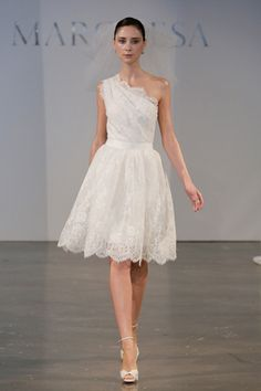 Marchesa 2014 Bridal Wedding Dress /  for 2014 / Great for rehearsal or for reception or a spring day wedding.