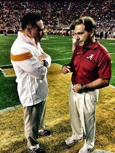 Butch Jones and Nick Saban