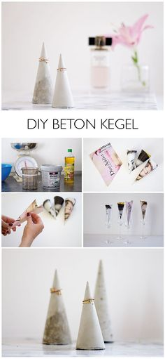 DIY Beton Kegel für Schmuck - http://lindaloves.de