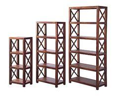 Set de 3 estanterías en madera de sheesham Roma